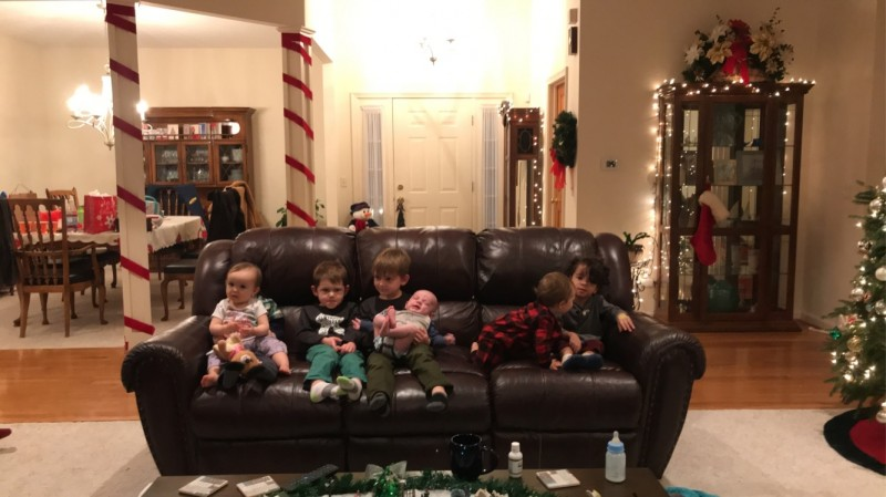 Hunter and some of his many cousins!