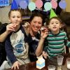 Oreo cookie party with me neighbor's kids