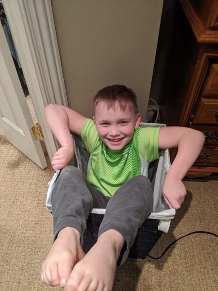 Silly boy fell!