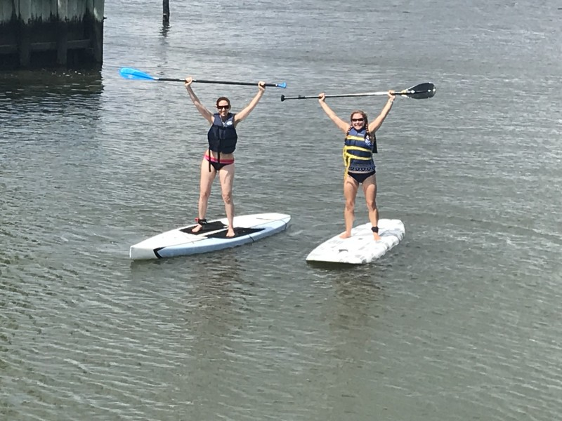 First time paddle boarding