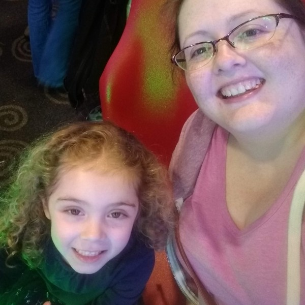 Amy and our niece at a bowling party