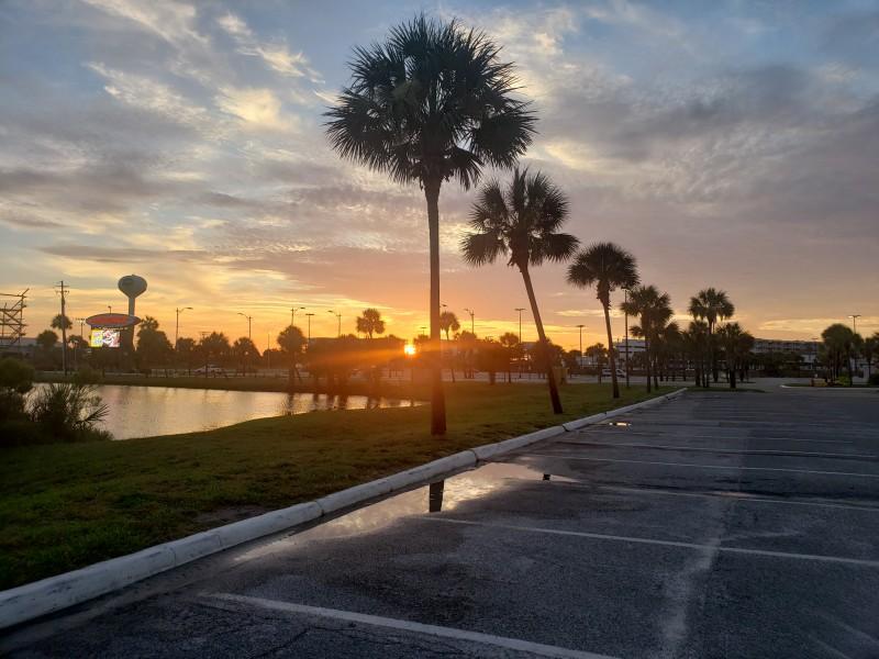 Chased the sunrise one morning