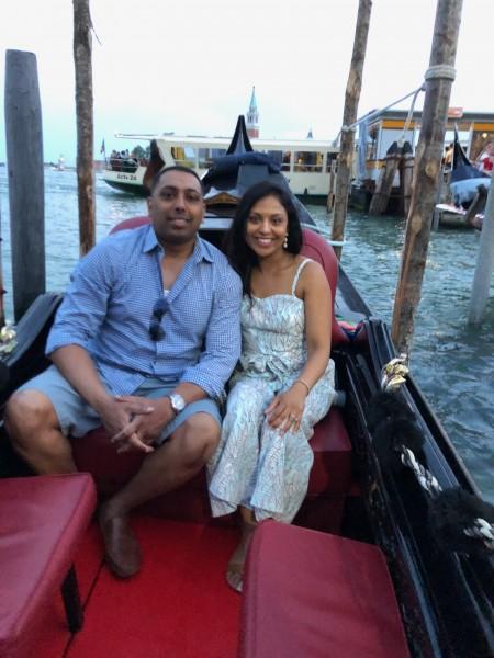 Riding the Gondola in Venice