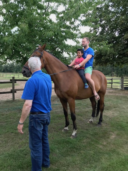 Horseback riding with Uncle Norbert & Cousin Alexander