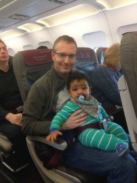 Our very first flight to Germany