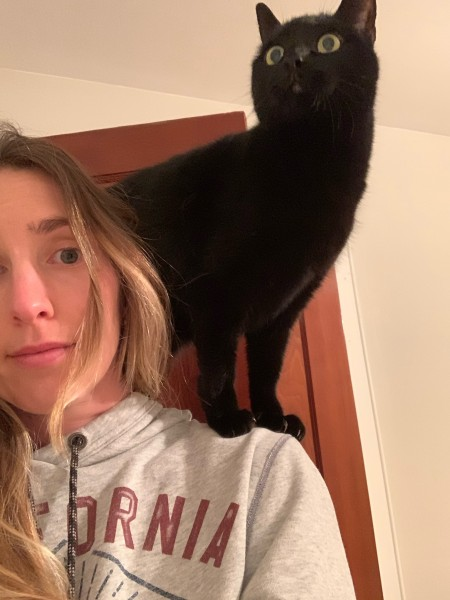 Violet thinks she is a parrot