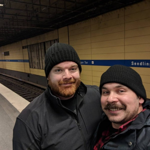 Us on a subway station in Germany