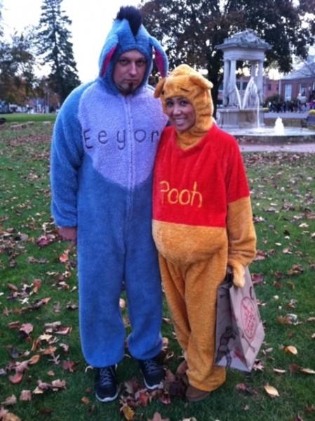 We're always Pooh and Eeyore for Halloween!