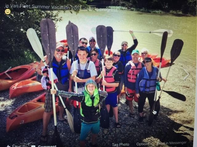Kayaking with cousins!