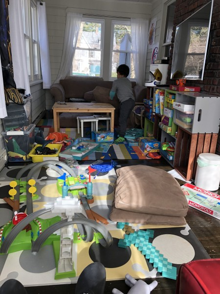 Letting our imagination run wild in the playroom