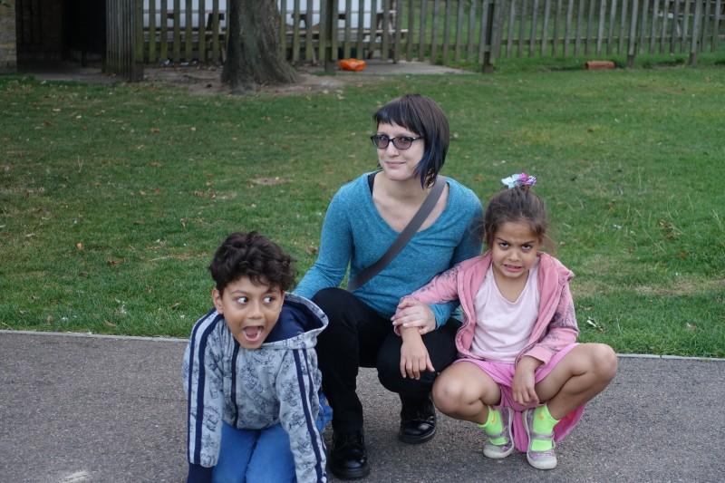 Nephew Elliott and Niece Iliana; Shennanigans in the park!