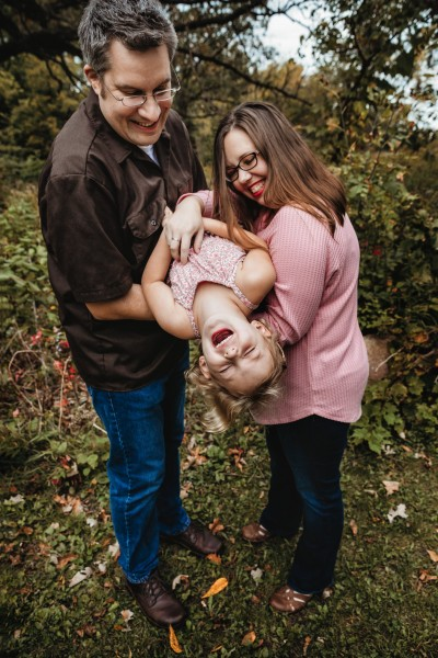 Us with our niece at our family photoshoot in September 2019