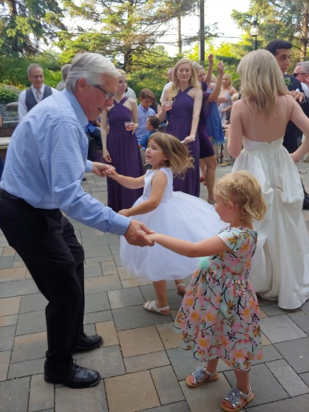 We love our aunts and uncles - family weddings are a great time for all generations to have fun together