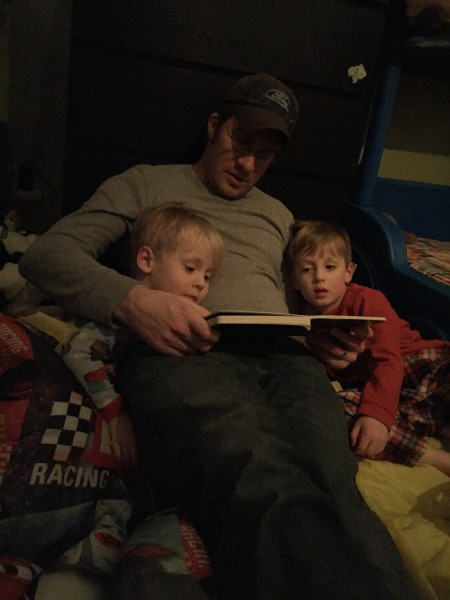 We love reading stories to the kiddos in our lives, like Annie's little cousins AJ (left) and Joey (right)