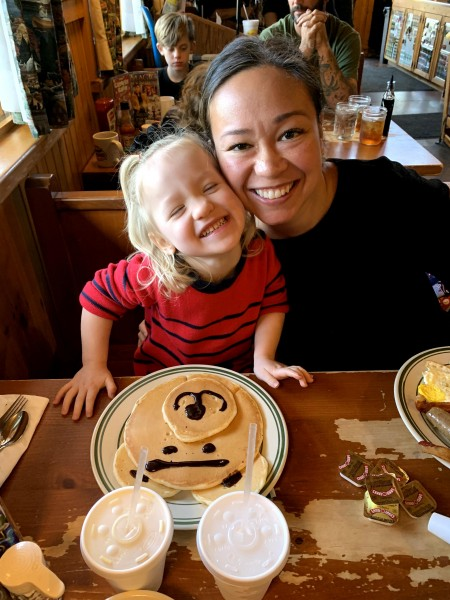 Breakfast bear pancakes