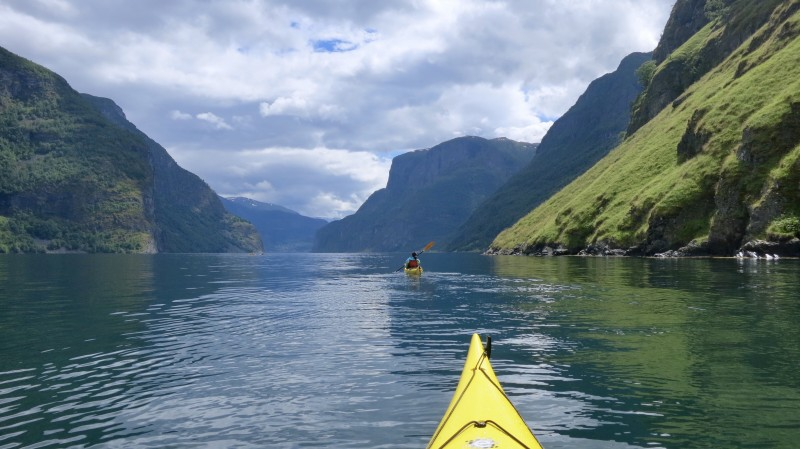 Kayaking in the fjords of Norway