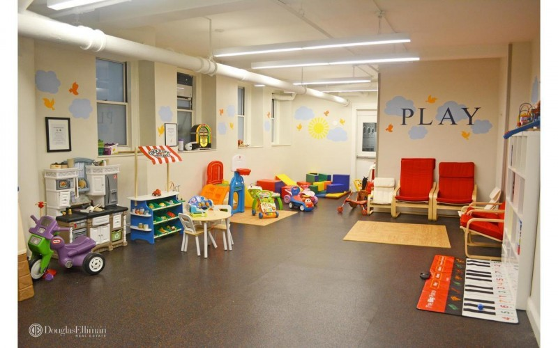 Our building's newly renovated playroom