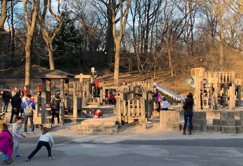 Beautiful playgrounds abound in our neighborhood