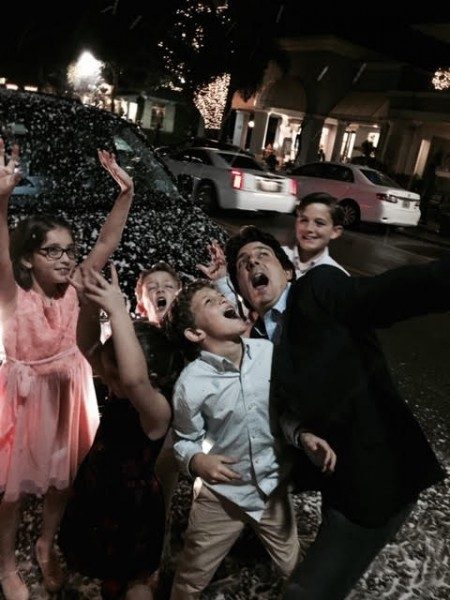 Brother, Nieces and Nephews (with fake snow in Florida).
