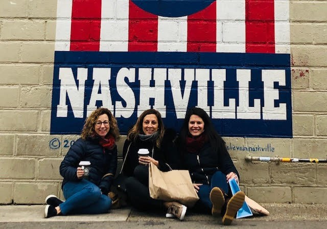 Sarah and her best friends on a girls trip!