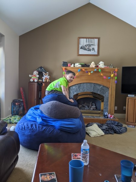 Beanbag tower
