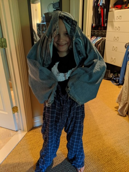 Alex folding laundry