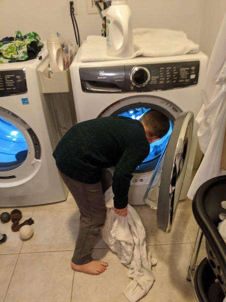 Learning how to do laundry