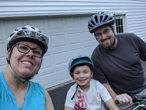 1st family bike ride!