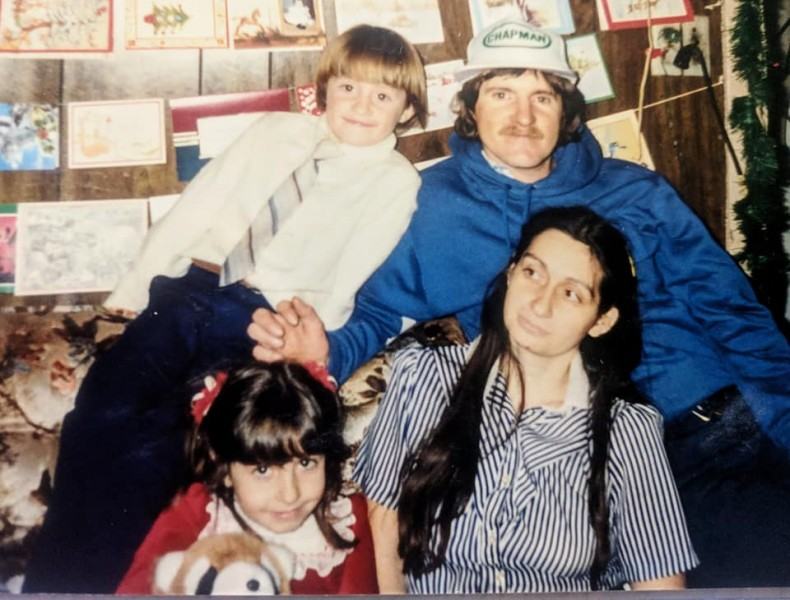Me in the early days with my family.... haha life in the 80's.