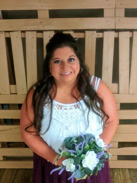 Bridesmaid in a friend's wedding.