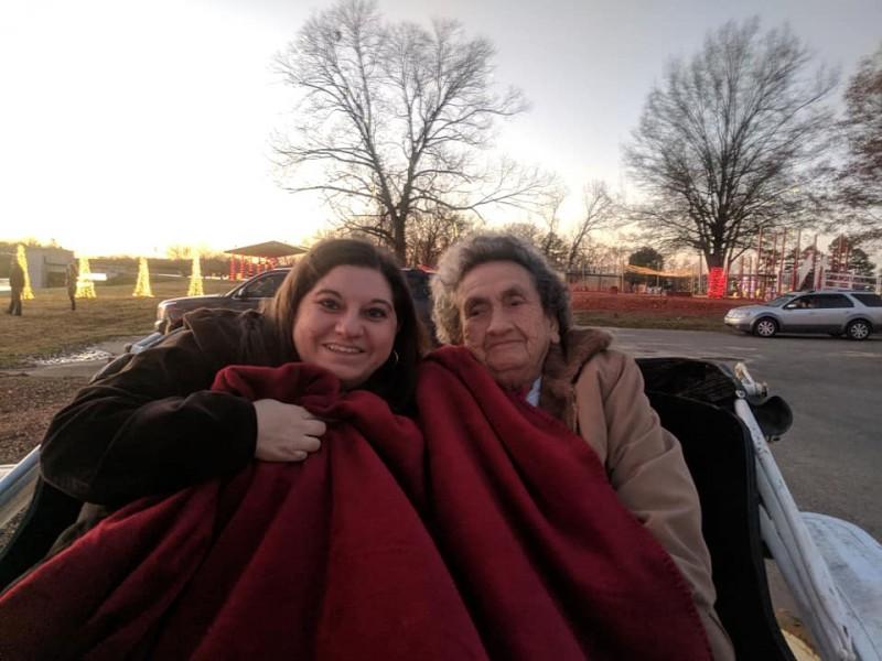 Me and my granny, making memories!