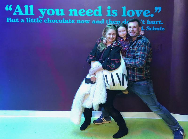 All you need is love ... and chocolate. A sentiment we can get around.