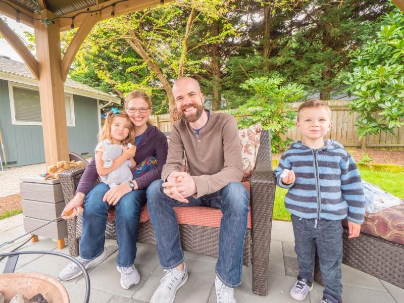 Backyard Family Pic