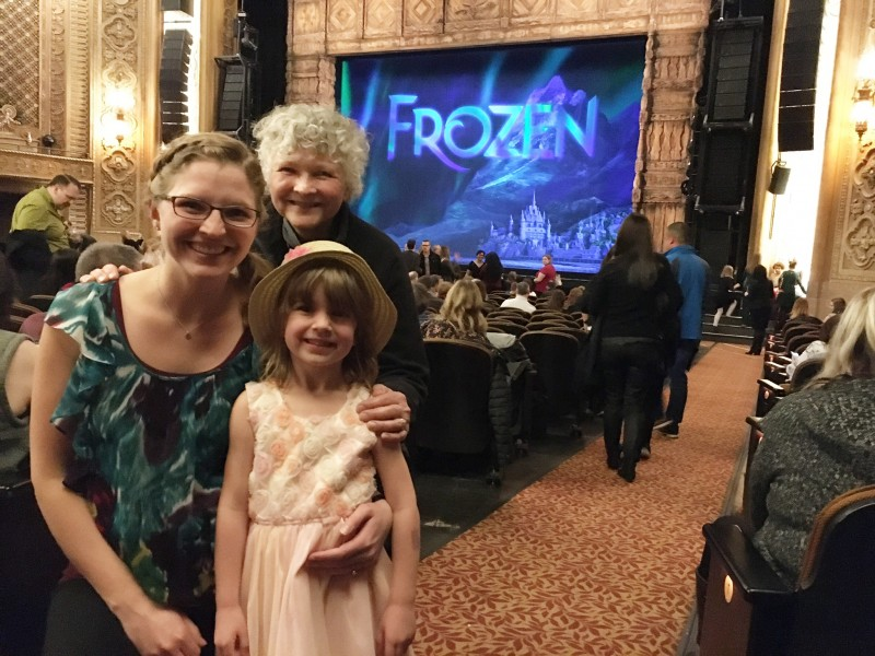 Frozen Broadway with Mumsie (Stevi's mom). We had a blast!