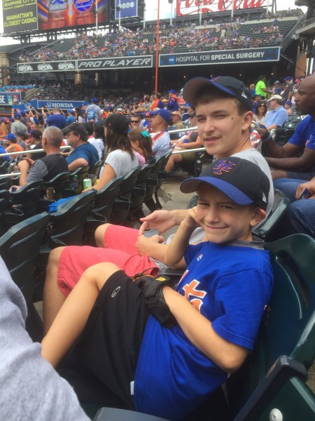 Nicolai and Kougar at a Mets game (although Patrick is a Yankees fan)