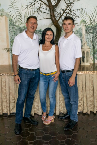 Patrick and Tammy, along with Patrick's adopted son, Nicolai