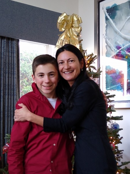 Tammy with her Godson, Christopher
