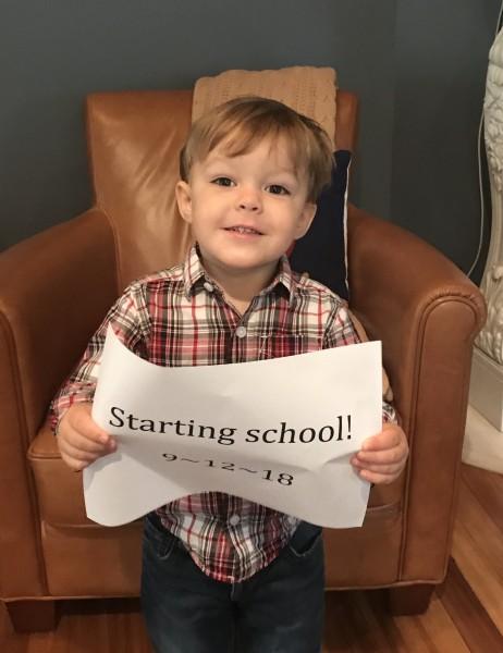 Kiernan's first day of preschool!