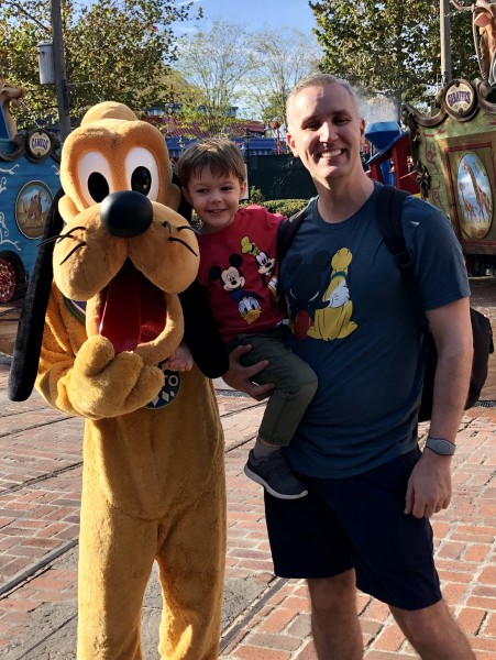 At Disney World with Pluto