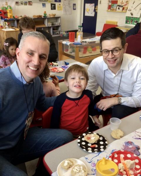 A special breakfast for dads at Kiernan's preschool