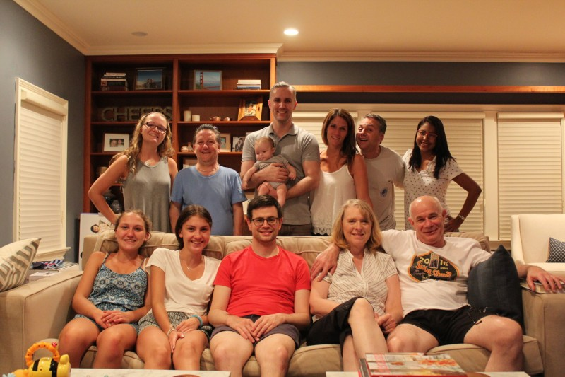 Enjoying a visit from Hank's dad and stepmom, Chris's sister's family, and his brother, Jimmy