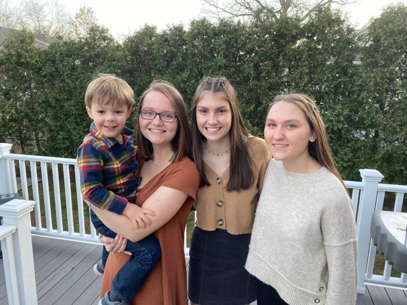 Kiernan and his cousins Emily, Lauren, and Meghan