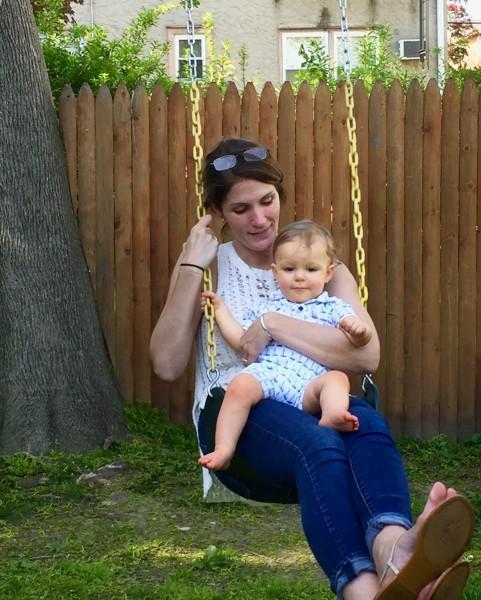 With Chris's sister, Gina