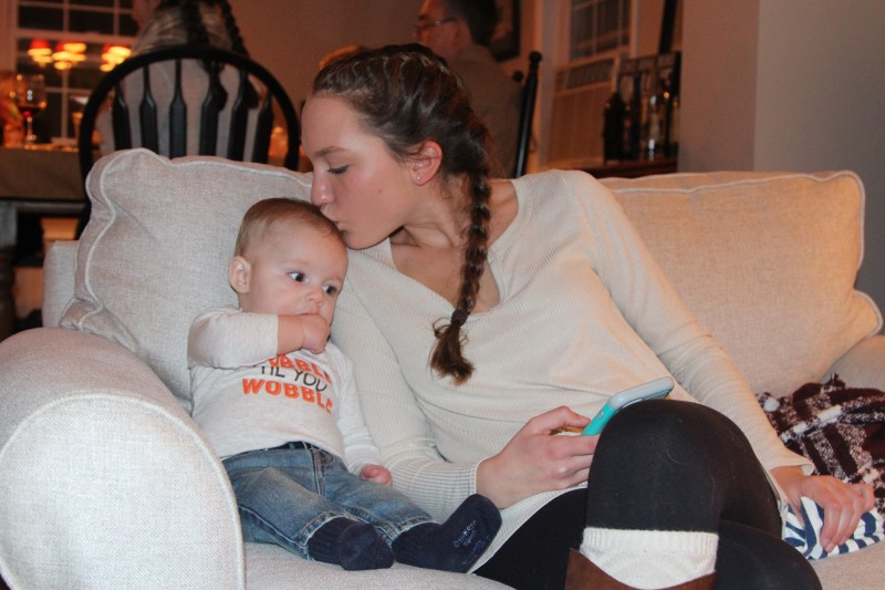 A kiss from Kiernan's cousin Meghan