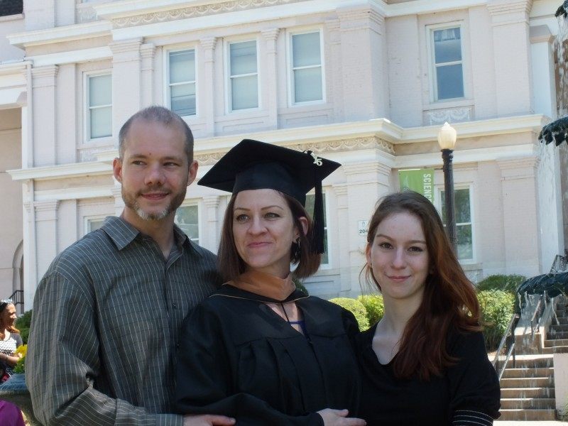 Our family at my MBA graduation