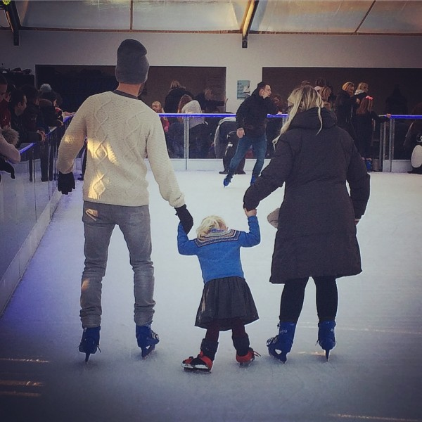 Ice skating with our niece, Isla.