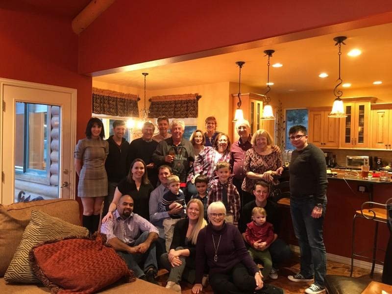 Diana's family celebrating Thanksgiving