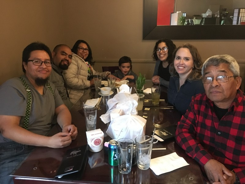 Celebrating Paulo's birthday with Paulo's family at our favorite Chinese restaurant