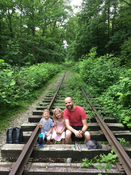 They explored old railroad tracks