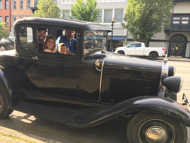 The kids even scored a ride in Uncle Ron's Model A!